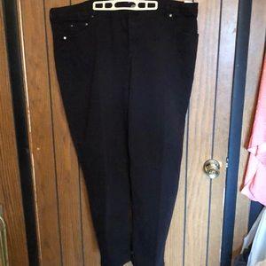 JMS 26w black twill jeans.